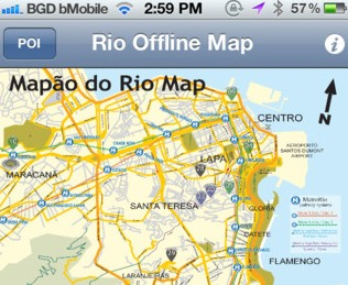Download the Rio de Janeiro Print Map app for iOs